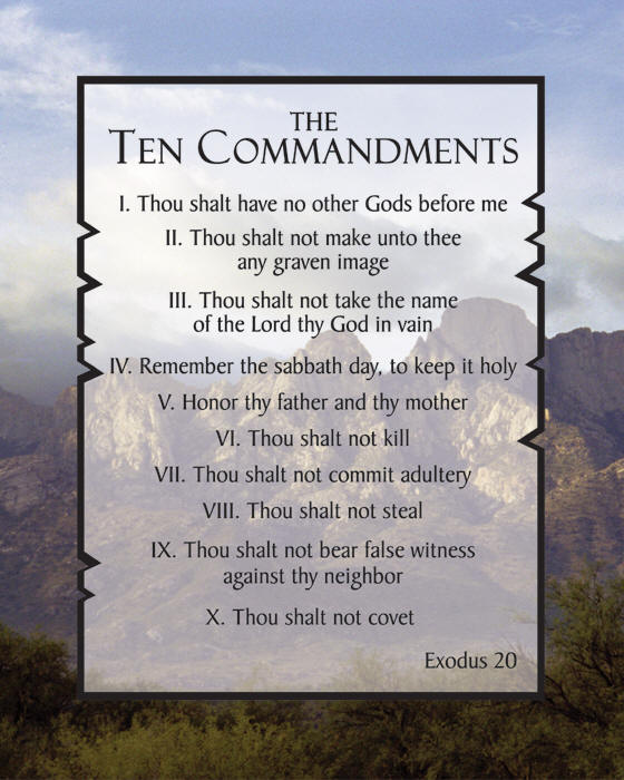 Thou shall post the Ten Commandments…for now