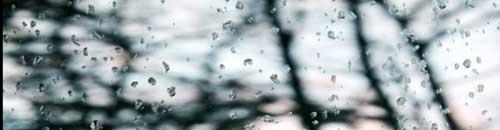 Sunday morning rain, coming down