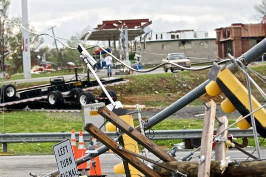 Tornado carnage in Glade Spring
