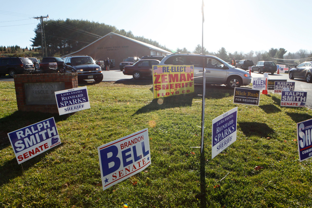 Moderate to heavy turnout at the polls
