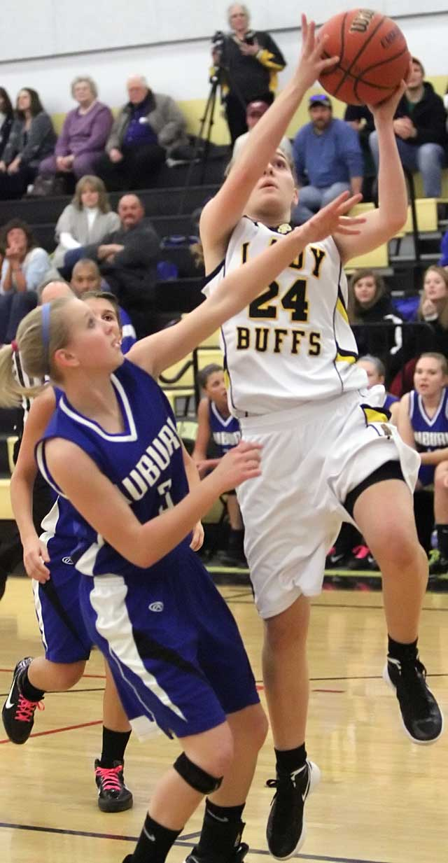 Lady Buffs go for district title tonight
