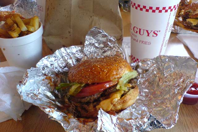 High fives to Five Guys