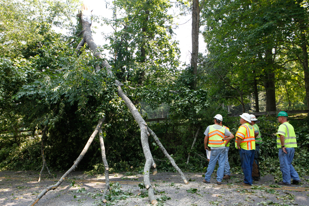 High winds leave thousands without power