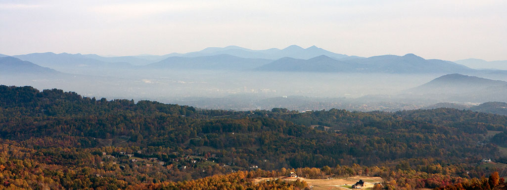 Smog in the Blue Ridge Mountains