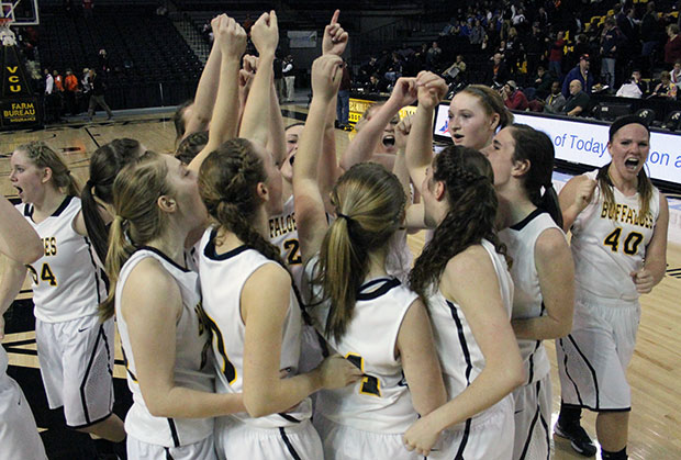 Lady Buffs in State Championship Final after beating George Mason