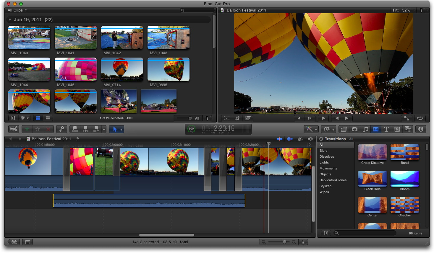 Finally settling on Final Cut Pro X