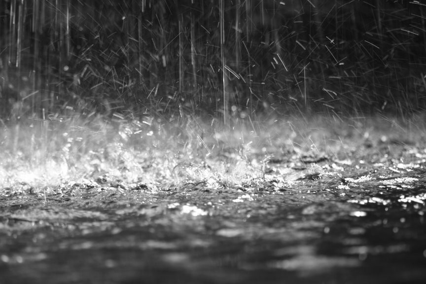 Rain falling and power out in Virginia counties