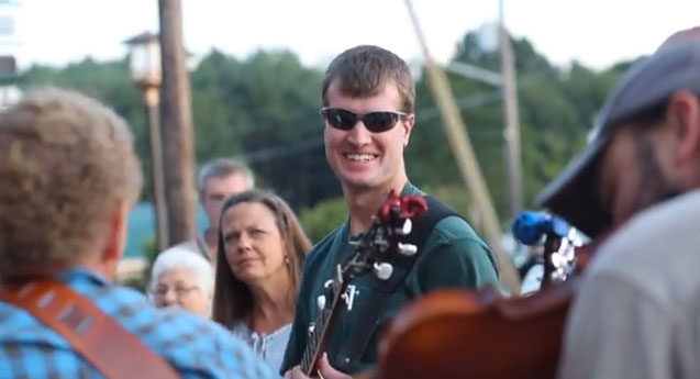 Faces of music on the streets of Floyd