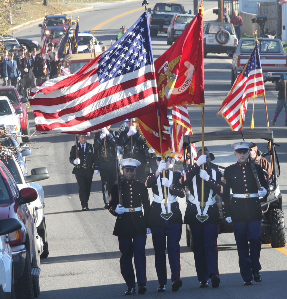 Veterans Day Parade in Floyd