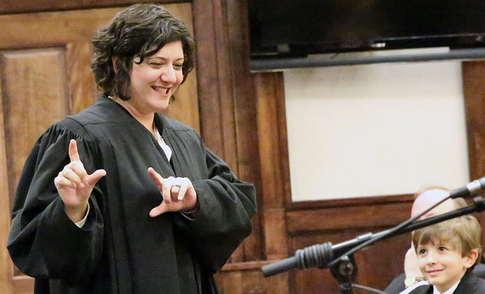 There's a new judge in our area