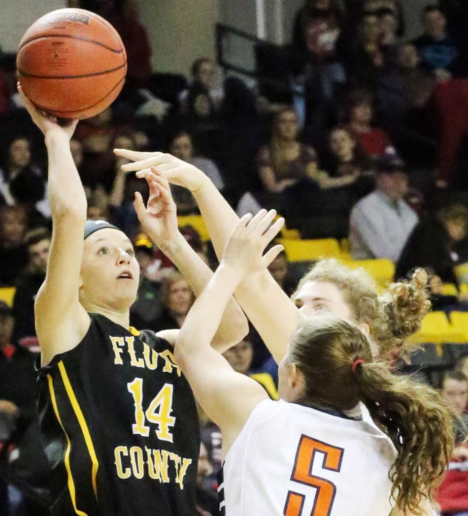 Lady Buffs take state semi-final 65-36