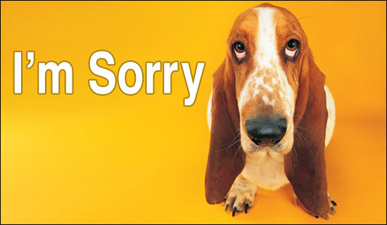 An apology tour