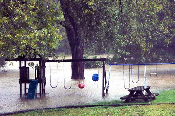 Rain, rain and more rain brings chaos to the area