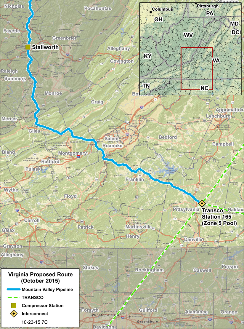 MVP files formal application for gas pipeline