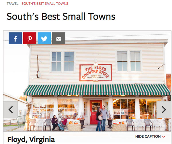 Southern Living: Floyd one of 'South's Best Small Towns'
