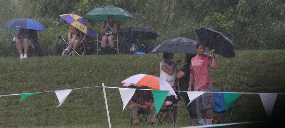 Rain competes with state track meet