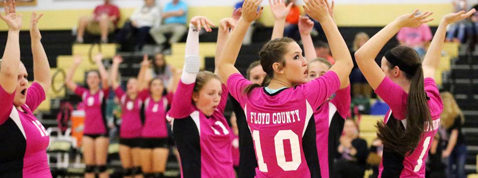 Varsity Volleyball scores win on Senior Night
