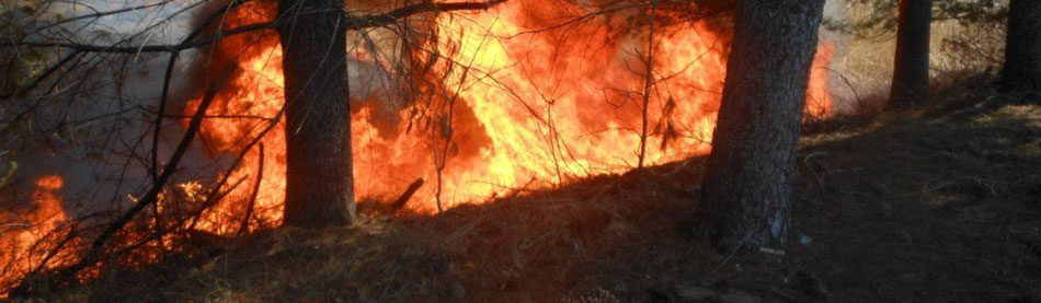 Be aware of fire risk from wind & dry conditions